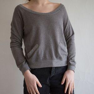 Grey cropped sweatshirt